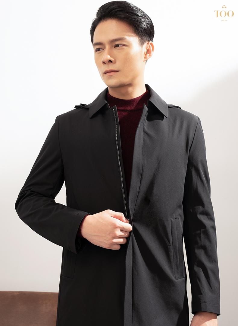 Áo khoác dáng dài là lựa chọn khá phổ biến của các quý ông
