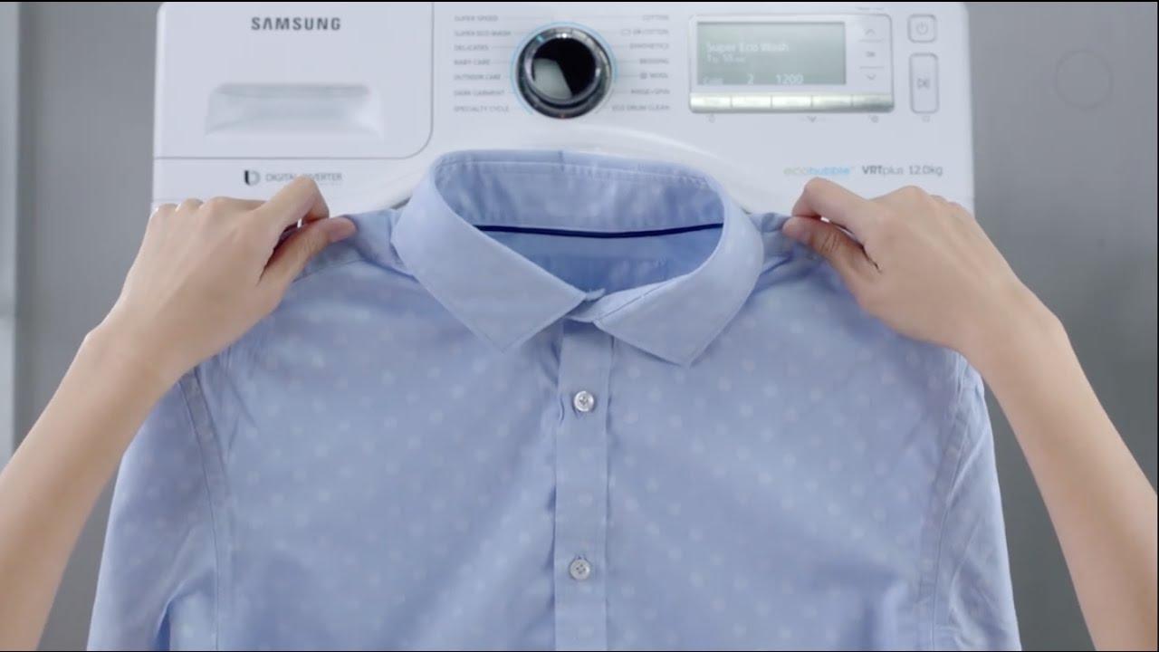 Nếu có giặt áo sơ mi bằng máy giặt thì nên giặt bằng máy cửa trước