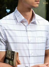 15+ Mẫu áo sơ mi nam trắng có họa tiết ĐẸP NHẤT tại TQQ