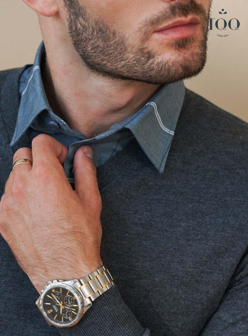 Màu ghi xám là lựa chọn an toàn của nam giới vào mùa đông