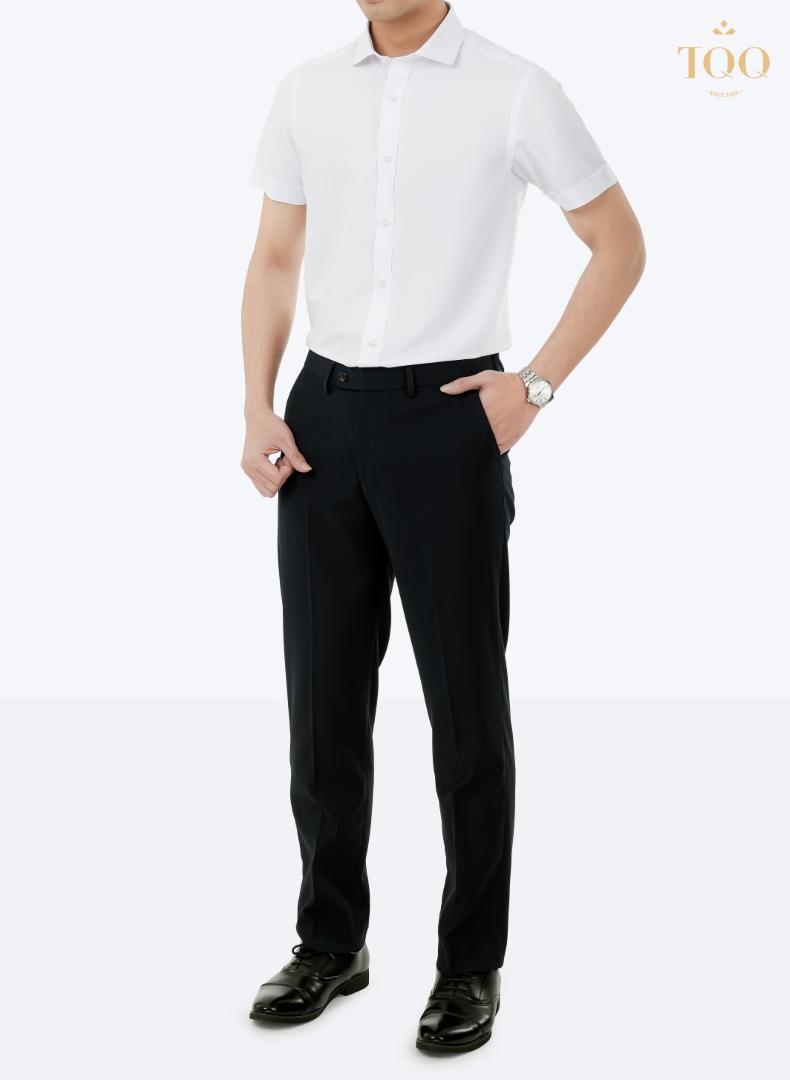 Mẫu áo sơ mi nam Slimfit M001CSC màu trắng