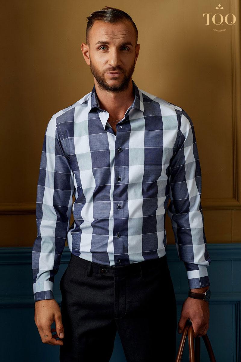 Mẫu áo sơ mi nam kẻ caro giúp chàng dễ dàng mix match theo nhiều phong cách thời trang khác nhau