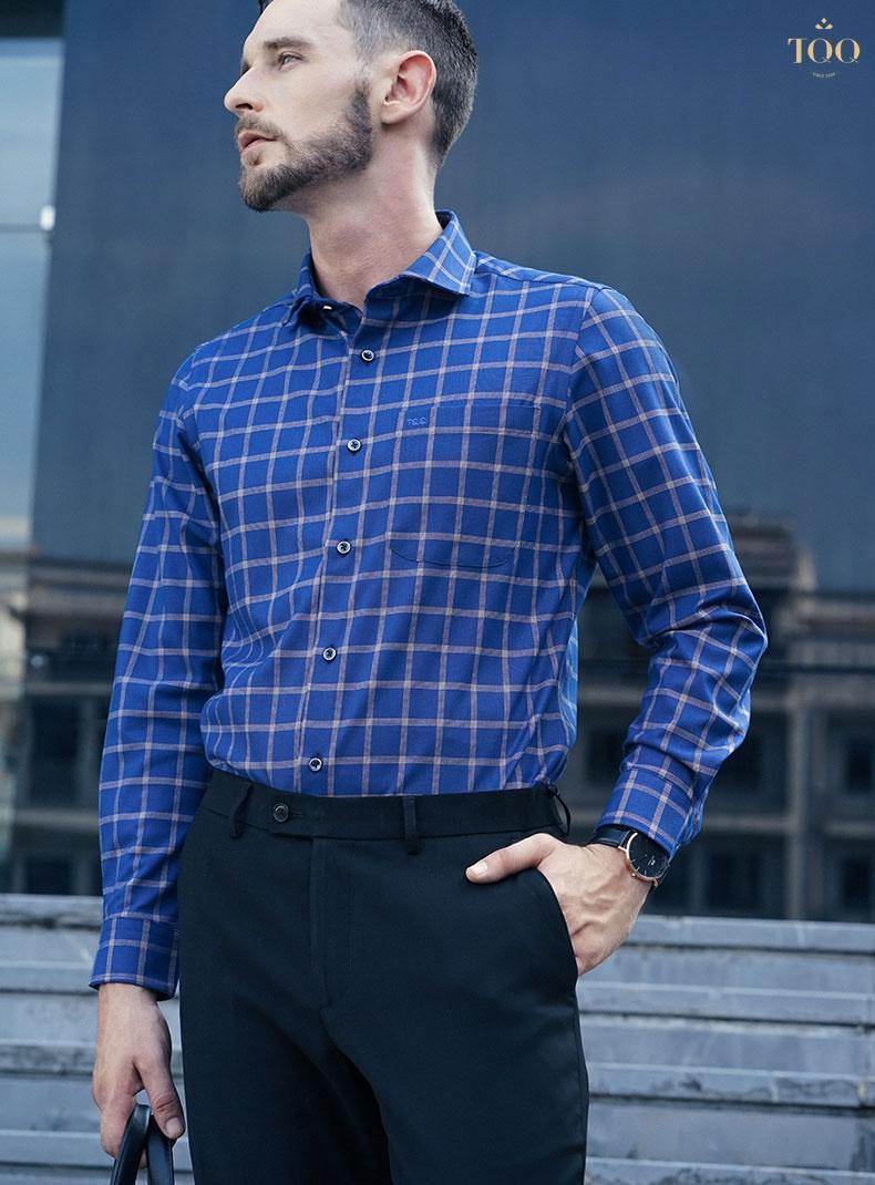 Phối hợp với những tông màu nam tính, áo sơ mi nam truyền thống chắc chắn sẽ đem đến vẻ đẹp hoàn hảo cho các quý ông