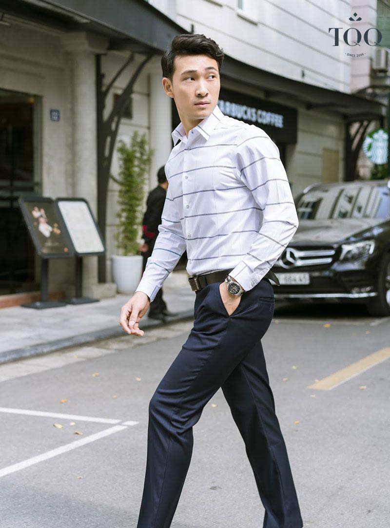 Nhã nhặn và lịch thiệp với những mẫu áo sơ mi nam trong bộ sưu tập Business Casual Style