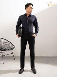 Gợi ý phối áo sơ mi tím nam cực phong cách