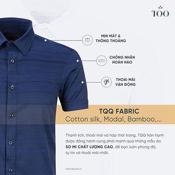 áo sơ mi nam TQQ được trau chuốt từng chi tiết