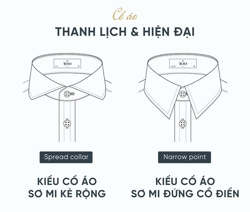 Lựa chọn cổ áo phù hợp đem lại vẻ đẹp cho người mặc