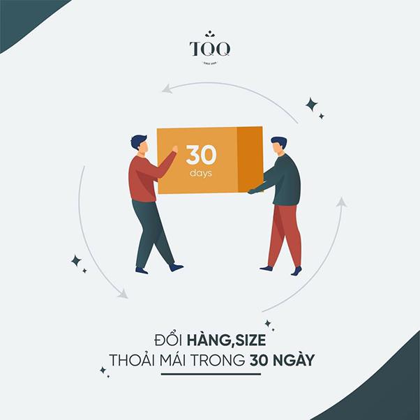 chính sách đổi trả trong 30 ngày của TQQ