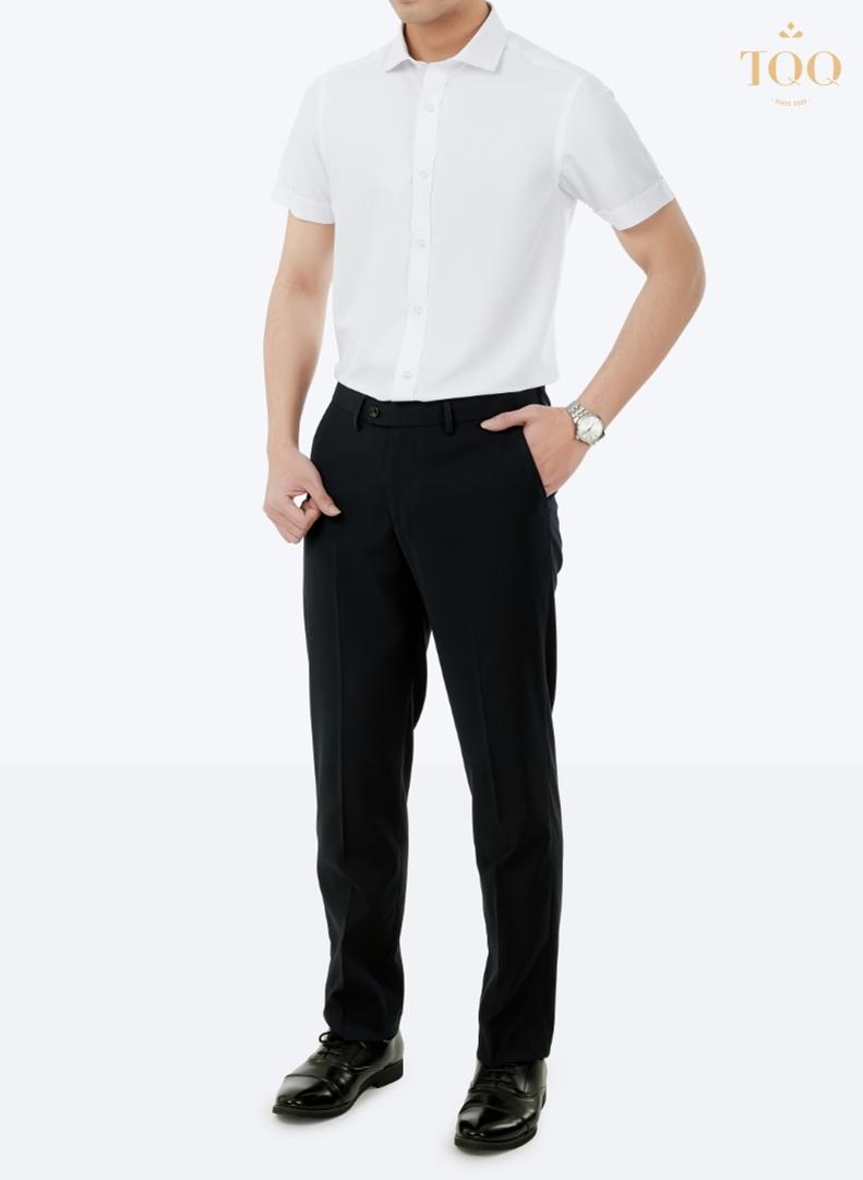 Nên chọn giày Tây có màu cùng màu với quần  u khi mặc sơ mi trắng