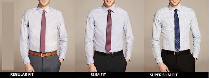 Áo sơ mi nam Super Slimfit có form gọn gàng và bó vào phần eo hơn các mẫu áo thông thường