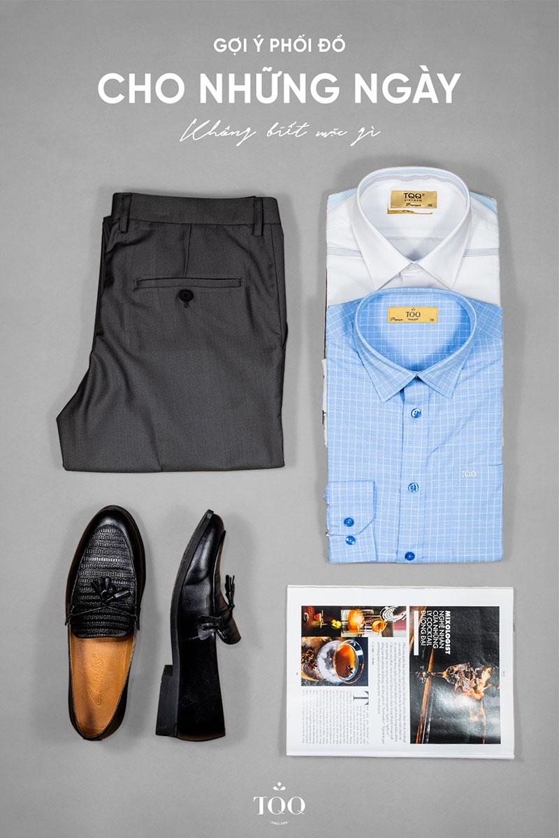 Chỉ cần khéo léo kết hợp áo sơ mi với quần Âu, giày Tây là các quý ông U50 đã có một diện mạo phong độ, đĩnh đạc.