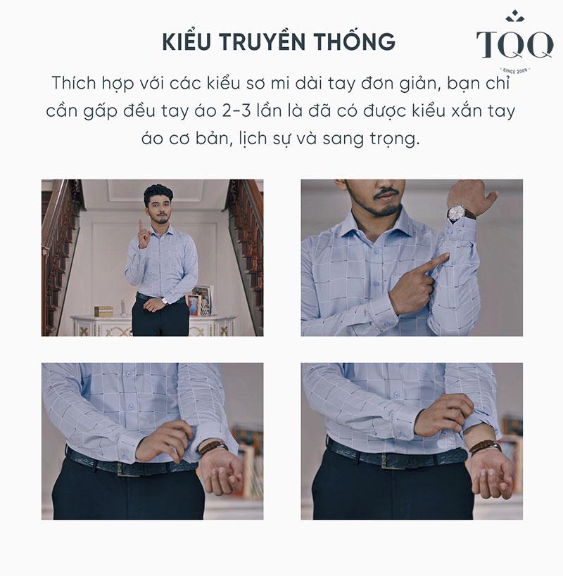 Chỉ trong 2 phút là nam giới đã có thể xắn tay áo kiểu truyền thống được