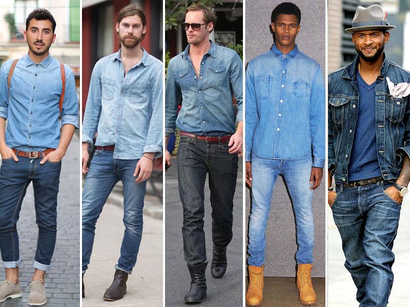 Cách phối sơ mi denim với quần jean cho phái mạnh thêm tự tin, cuốn hút
