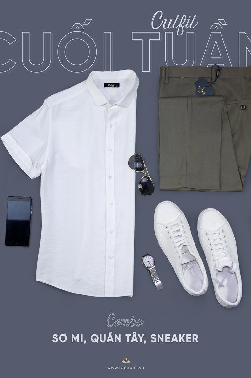 Áo sơ mi ngắn tay, quần âu là sự lựa chọn hoàn hảo cho quý ông công sở