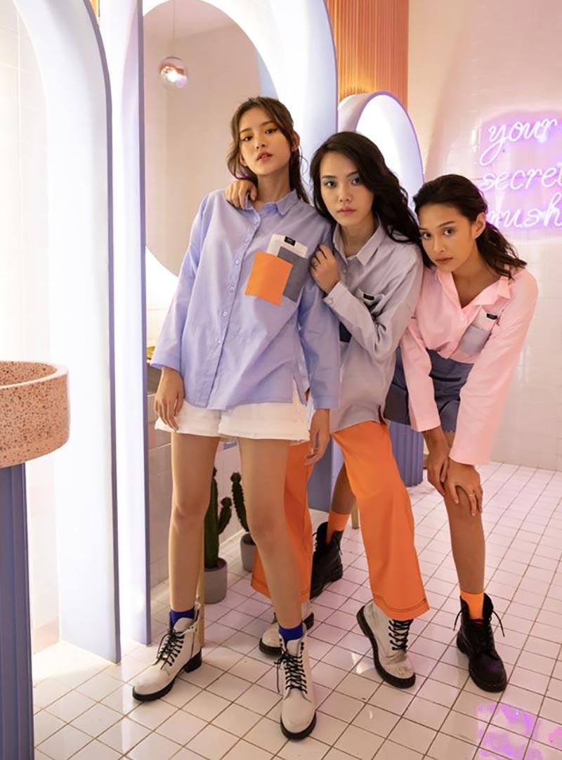 Mẫu áo sơ mi 3 túi thực chất là mẫu áo dành cho nữ giới
