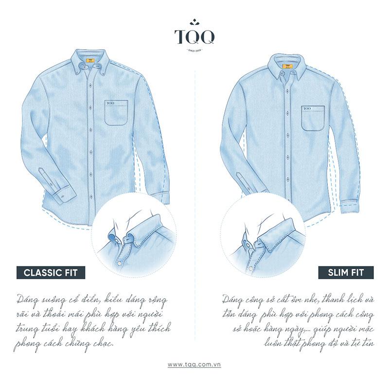 Form áo classic fit và slimfit là 2 form áo phù hợp nhất với nam giới công sở tuổi 30
