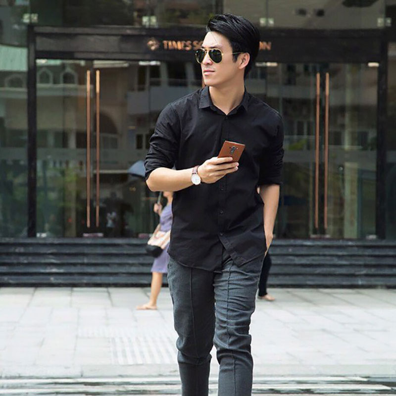Áo sơ mi casual kết hợp quần Jeans mang tới vẻ ngoài hoàn hảo cho các quý ông