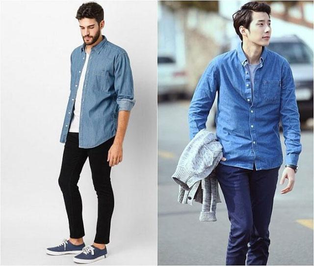 Sự kết hợp sơ mi Denim với quần jeans trở thành xu hướng trong phong cách thời trang giới trẻ