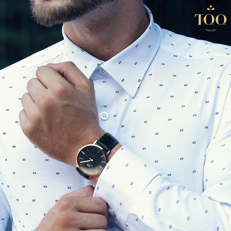 Các mẫu áo sơ mi nam họa tiết hoa văn nhỏ phù hợp với đa dạng đối tượng nam giới ở nhiều độ tuổi