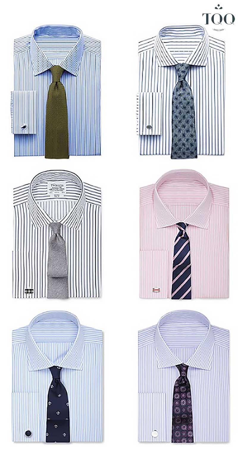 Việc chọn được cà vạt phù hợp cho áo sơ mi kẻ sọc cần cầu kỳ hơn một chút