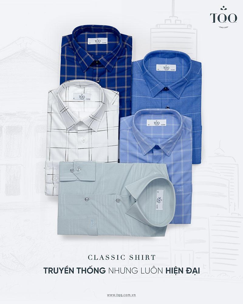 Màu sắc áo sơ mi có tông màu lạnh, trầm sẽ phù hợp nhất với quý ông tuổi 50