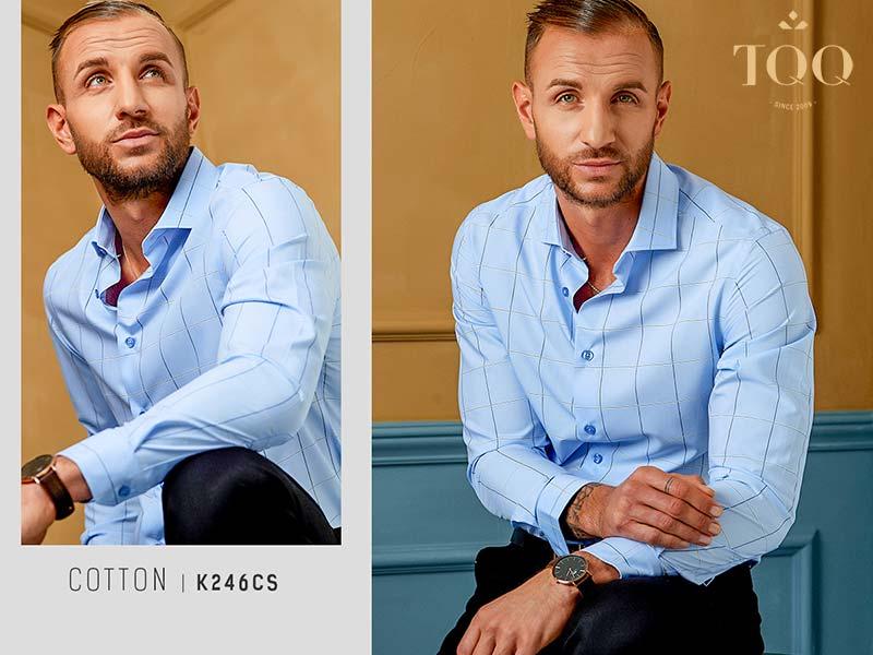 Sơ mi nam màu xanh - chiếc áo hoàn hảo cần có của mọi quý ông