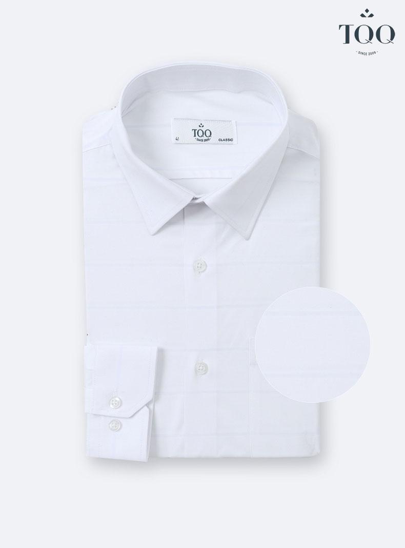Mẫu áo CFK355CS trắng truyền thống - mẫu áo được quý ông U50 yêu thích nhất tại TQQ