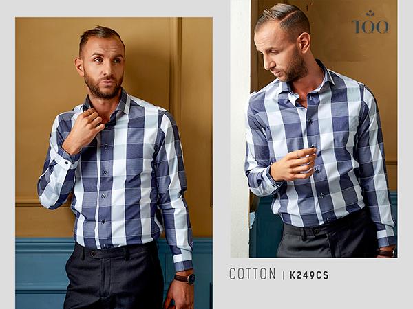 áo sơ mi có họa tiết ấn tượng, bạn nên kết hợp cùng quần trơn tối giản