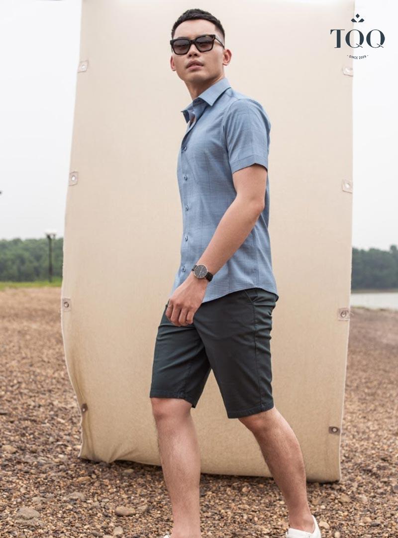 Mặc đẹp, tôn dáng phong cách trẻ trung hiện đại cùng với áo sơ mi nam ôm body TQQ