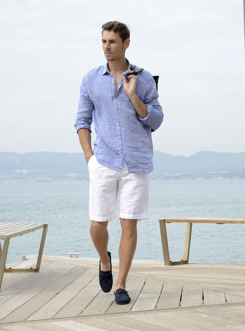 Chiếc áo sơ mi nam vải lanh giúp phái mạnh thoải mái, mát mẻ trong ngày hè