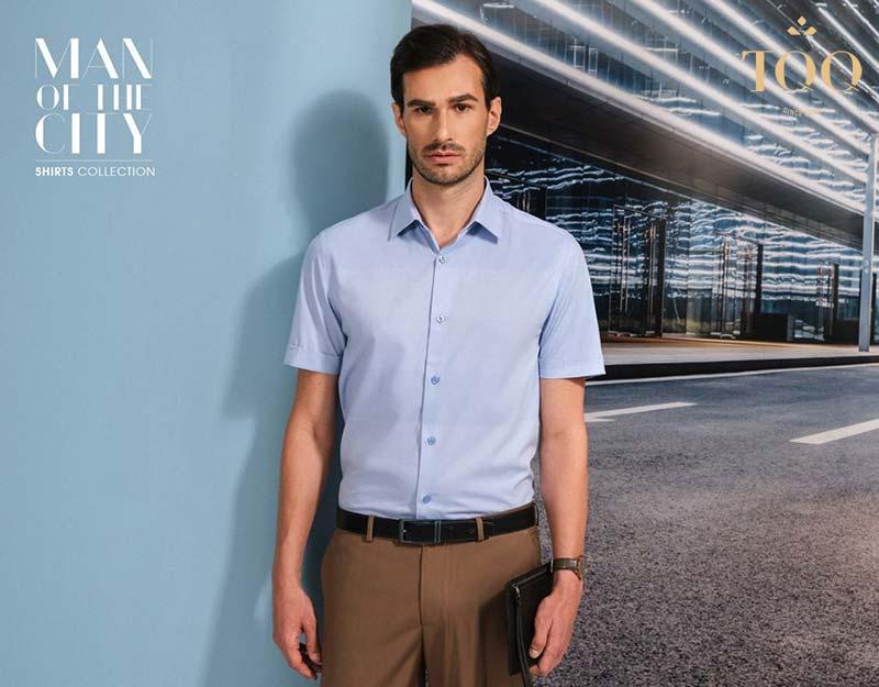Sở hữu diện mạo lịch lãm và sang trọng với chiếc áo sơ mi nam màu xanh dương