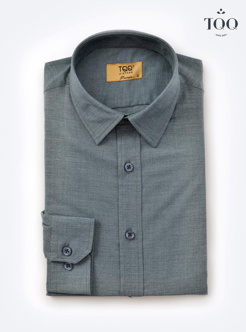 Mẫu áo sơ mi nam màu ghi xám M69