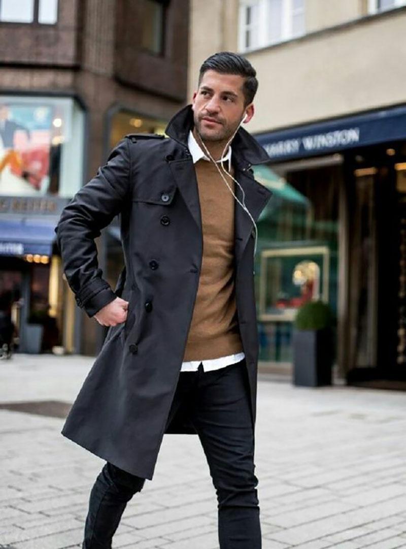 Các mẫu áo Sweater màu nâu là lựa chọn không hề tồi để đi dạo phố