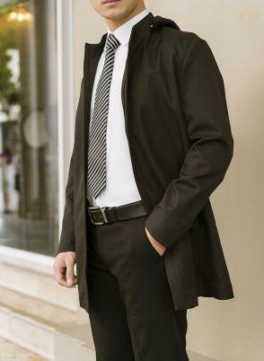 Áo khoác dáng dài KH21908 màu đen