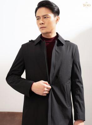 Áo khoác dáng dài KH21911 đen