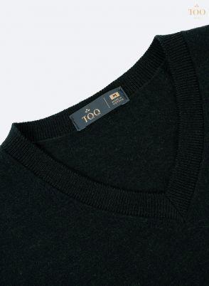 Áo len nam cổ tim cao cấp Len04 màu rêu