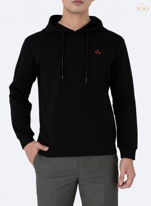 Áo nỉ dài tay có mũ NPL02 đen