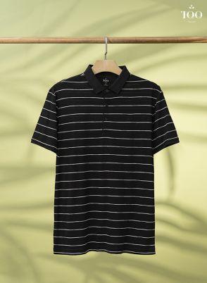 Áo polo kẻ ngang PC2001 đen