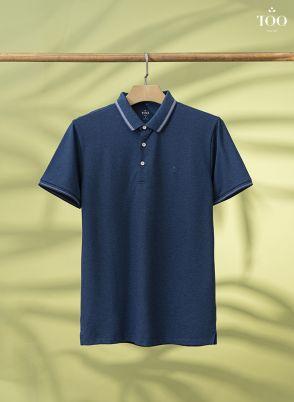 Áo polo màu trơn PC2008 xanh lông công