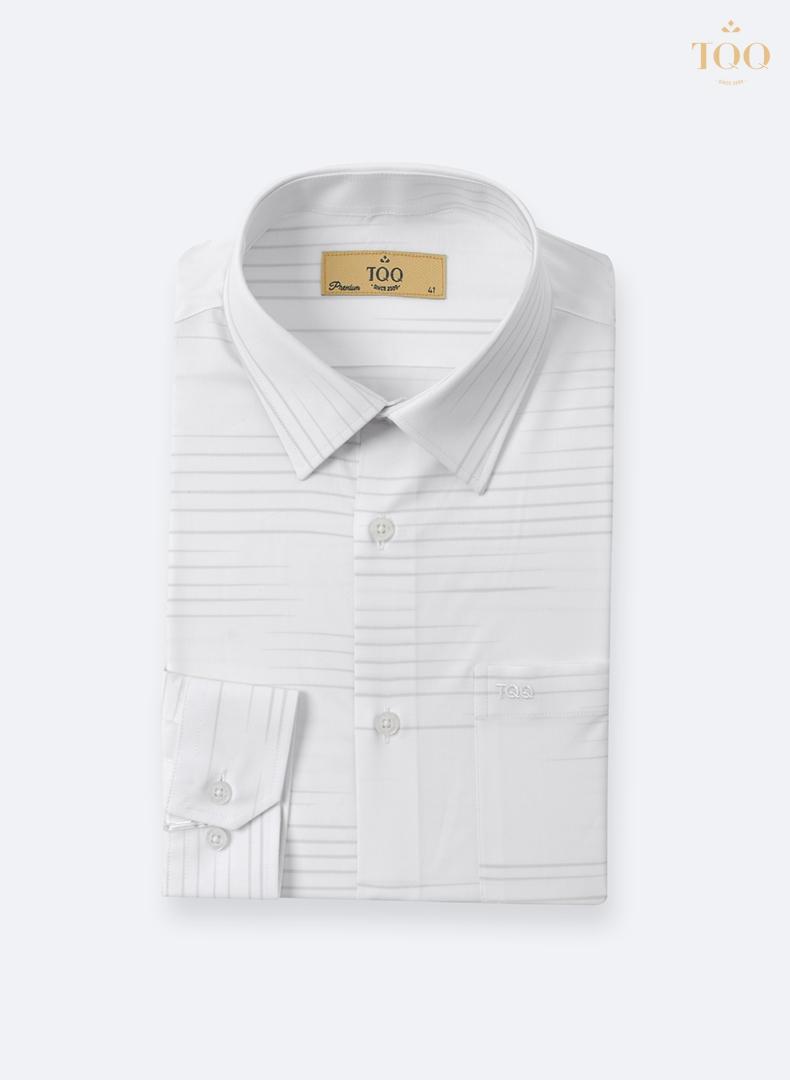áo sơ mi trắng vân chìm