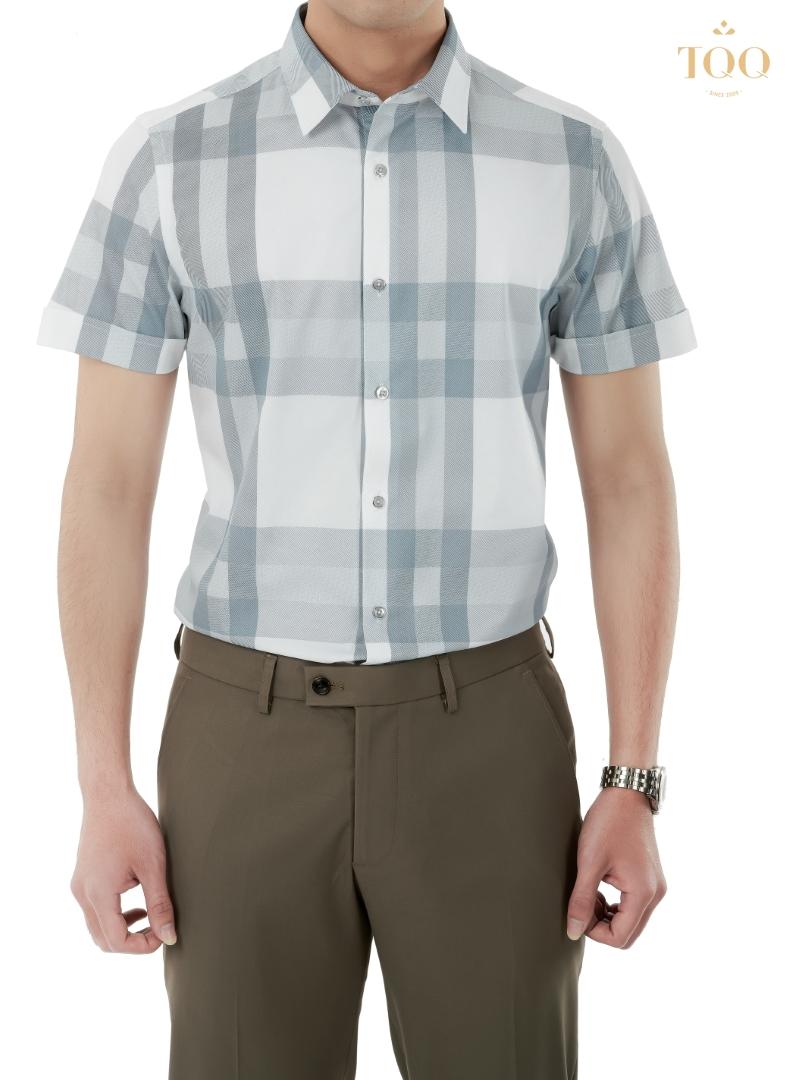 Mẫu áo sơ mi nam ngắn tay K398CS đầy cuốn hút và trẻ trung