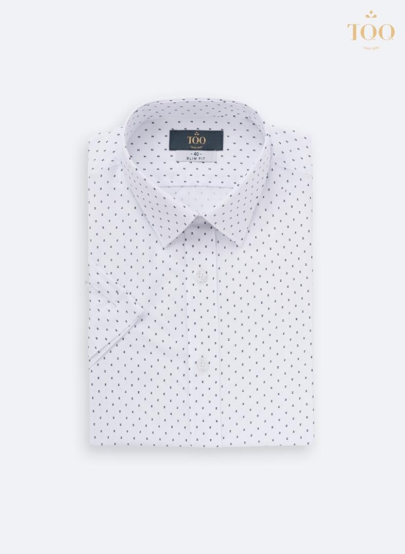 Mẫu áo sơ mi nam H237CSC màu trắng với họa tiết vô cùng ấn tượng, đẹp mắt