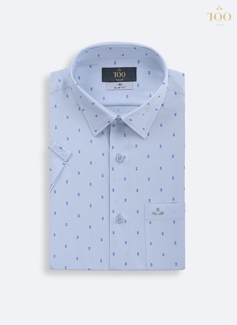 Mẫu áo sơ mi H292CB màu xanh nhạt nhẹ nhàng, nhã nhặn