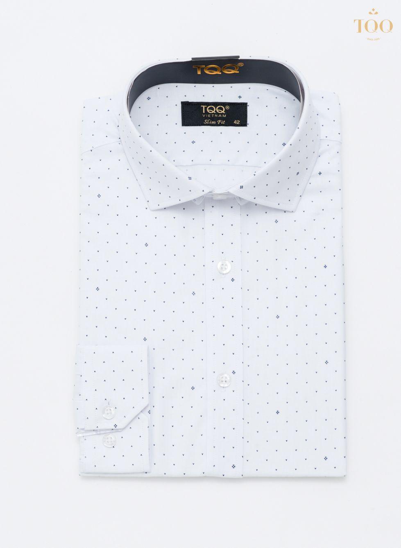 Mẫu áo sơ mi nam dài tay H236CS trắng tạo sự nhã nhặn, lịch thiệp cho phái mạnh