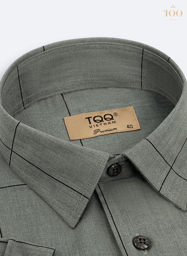 Thiết kế cổ áo vát nhẹ tinh tế, đứng form